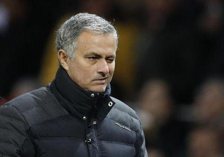 Manchester United manager Jose Mourinho winks