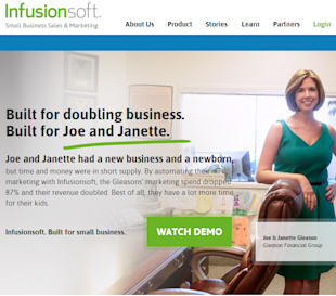Infusionsoft Review — Automation Marketing Software For Small and Medium Businesses image 01 IS Landing Page