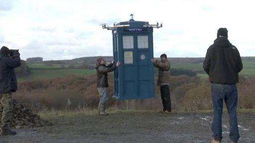 Doctor Who Fans Build Flying Police Box