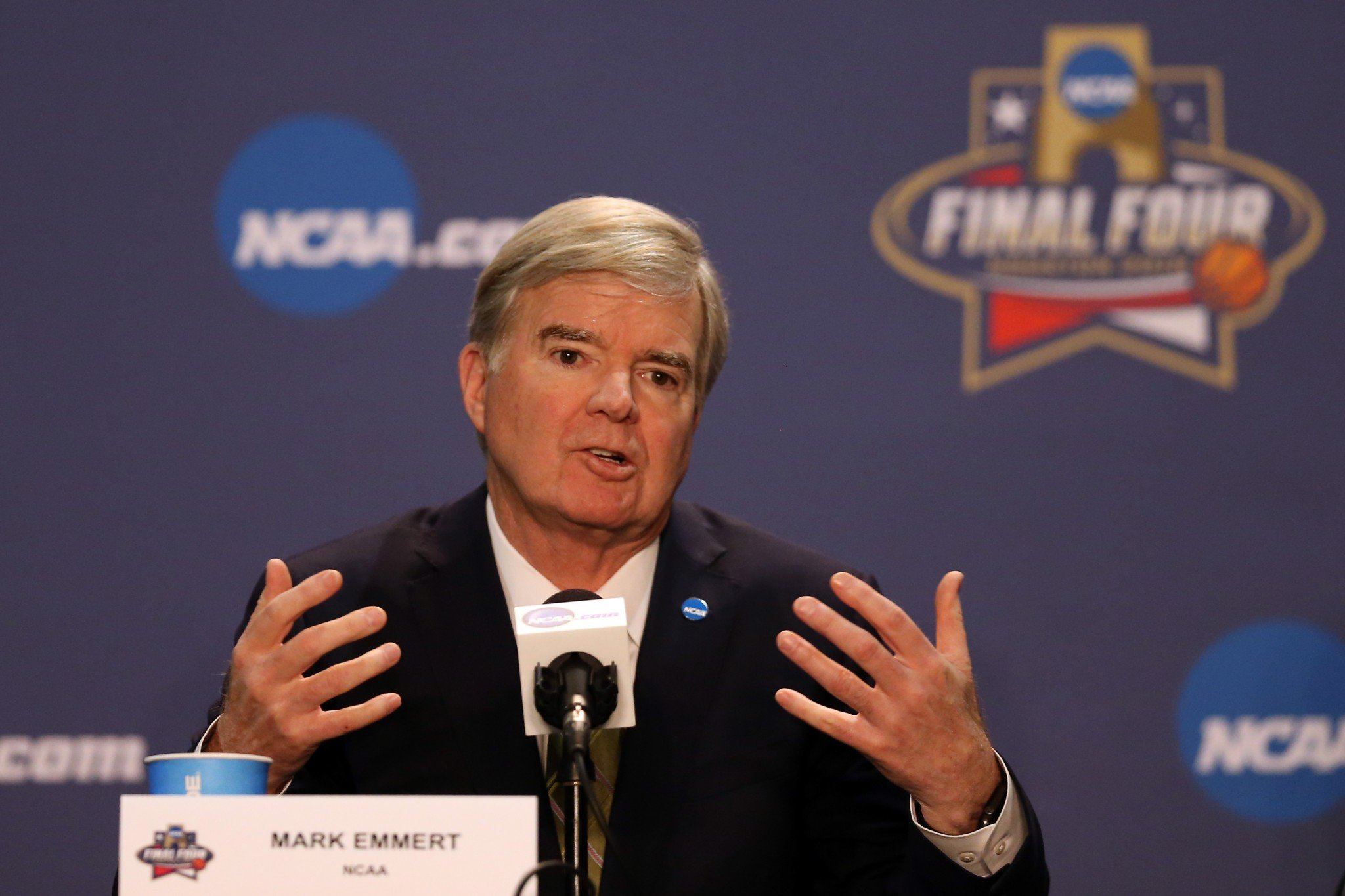 NCAA president Mark Emmert wants to assess the money college athletes make for winning Olympic medals. (Getty)