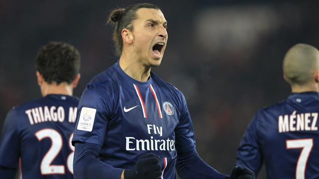 Ligue 1 - Ibrahimovic nets three as PSG thrash Valenciennes