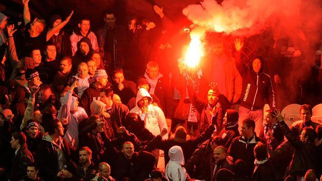 World Football - Police and fans hurt in trouble after Bosnian game