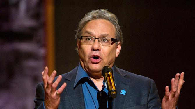 "FILE - This Oct. 2, 2010 file photo shows Lewis Black performing at Comedy Central's  ""Night Of Too Many Stars: An Overbooked Concert For Autism Education"" at the Beacon Theatre in New York. Black will bring his trademark frustration and high blood pressure style to the Richard Rodgers Theater from Oct. 9-14. The show, currently on tour, is called ""Running on Empty.""  (AP Photo/Charles Sykes, file)"