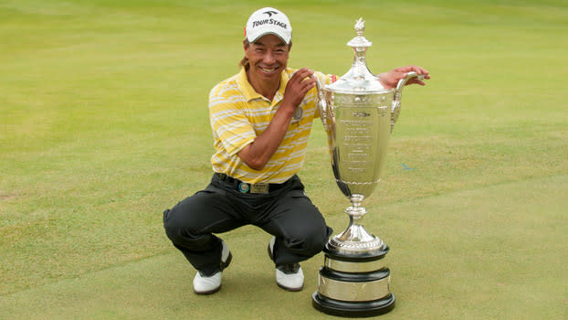 Kohki Idoki's goal is 'to defend my title' at Senior PGA Championship