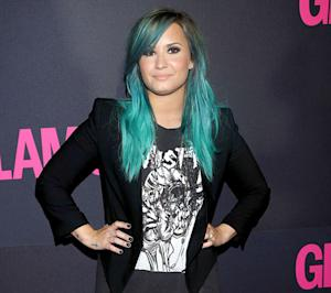 Demi Lovato Rocks Aqua Blue Hair on the Red Carpet: Picture