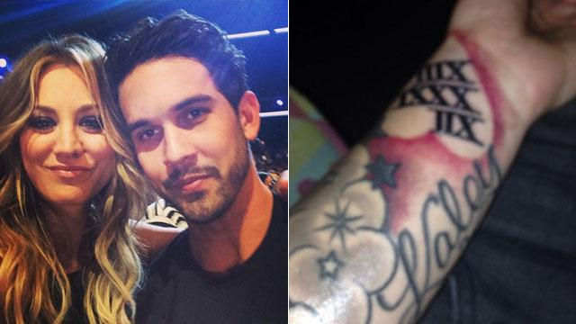 Ryan Sweeting Gets 'Kaley' Tattoo