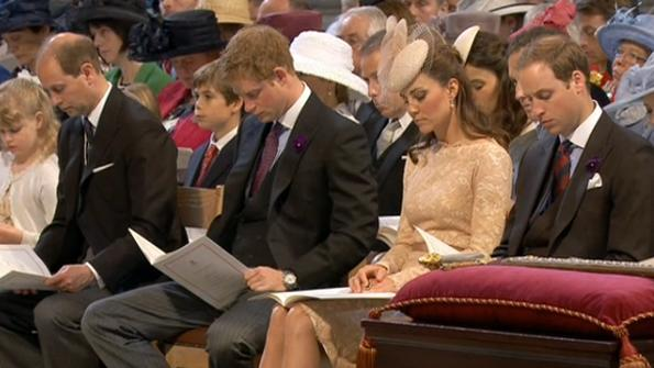 Kate Middleton in Alexander McQueen Dress and Jane Taylor Hat For Jubilee Service