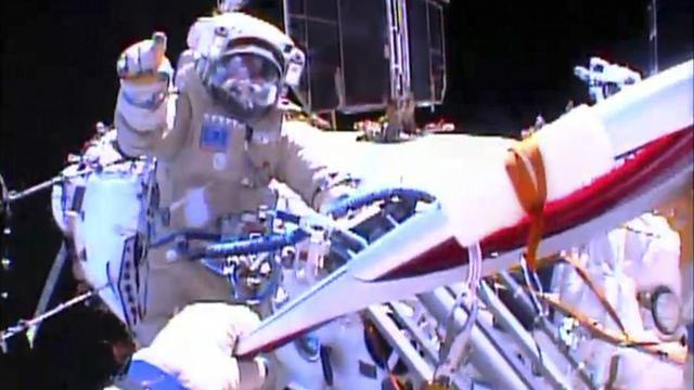 Winter Sports - Cosmonauts take Sochi Olympic torch on spacewalk