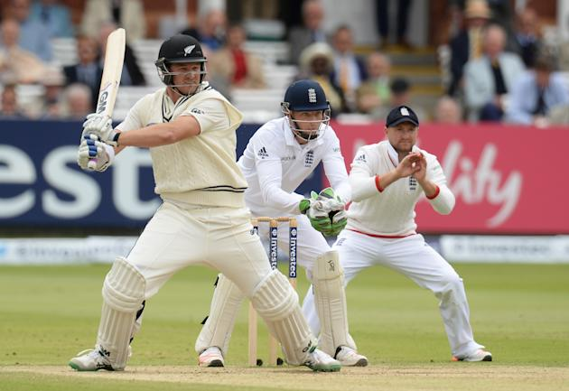 Cricket: New Zealand's Corey Anderson in action