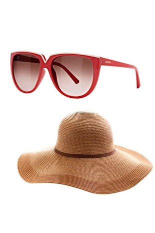 Valentino sunglasses and J.Crew hat