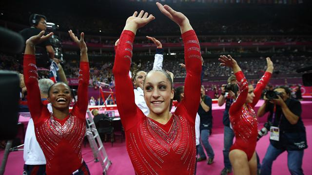 Olympic Games - US storm to Olympic gymnastics team gold