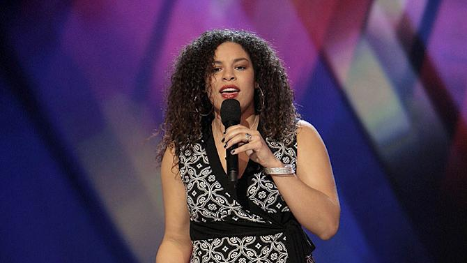 Jordin Sparks performs in front of the judges on 6th season of American Idol.