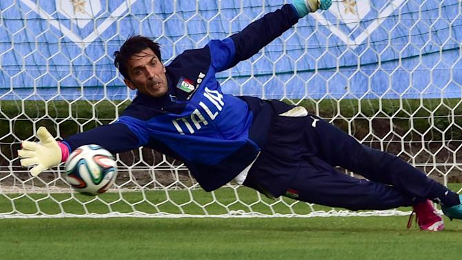 World Cup - Buffon out of England game, could miss tournament