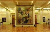 A restored painting of Felix Resureccion Hidalgo at the National Museum in Manila. Flash camera-toting tourists could wreck the Philippines' greatest works of art, says the worried curator of the National Museum, conservation laboratory chief Orlando Abinion