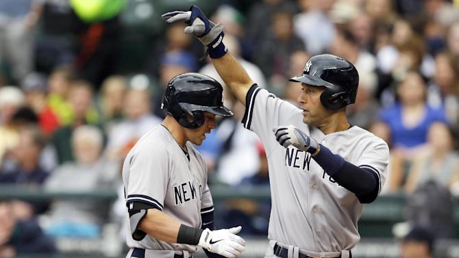 Jeter leads Yankees' sweep of Seattle with 6-3 win
