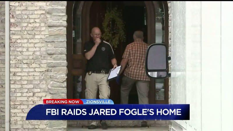 FBI agents search Subway spokesman Jared Fogle's home