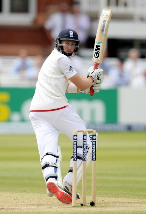 Cricket: England's Joe Root in action