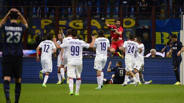 Serie A - Inter flop in Bologna draw, Toni decides Verona derby