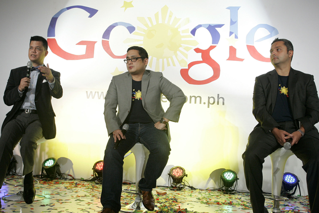 Manuel Quezon III, Google Philippines Country Manager Narciso Reyes and Google Southeast Asia Managing director Julian Persaud