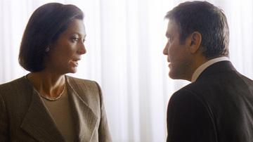Tilda Swinton and George Clooney in Warner Bros. Pictures' Michael Clayton