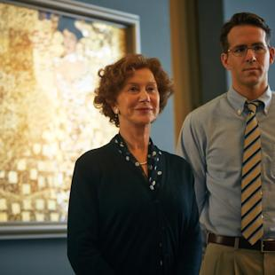 "This photo provided by The Weinstein Company shows, Helen Mirren, left, and Ryan Reynolds, in a scene from the film, ""Woman in Gold.""  (AP Photo/The Weinstein Company, Robert Viglasky)"