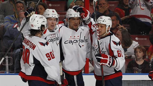 Ice Hockey - Ovechkin treble steers Capitals to win over Panthers