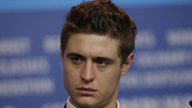 Max Irons during the press conference for the film Woman in Gold at the 2015 Berlinale Film Festival in Berlin, Monday,Feb. 9, 2015. (AP Photo/Michael Sohn)