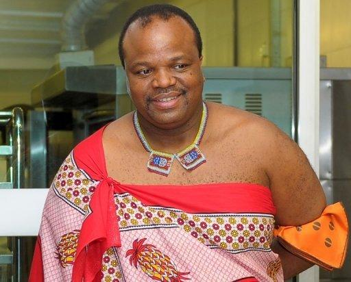 King Mswati III of Swaziland smiles during his visit to Taylor's University in Subang Jaya, outside Kuala Lumpur on July 3, 2013. Mswati III has chosen an 18-year-old beauty pageant contestant as his 14th wife, a palace spokesman said Tuesday, days before a much-criticised parliamentary vote.