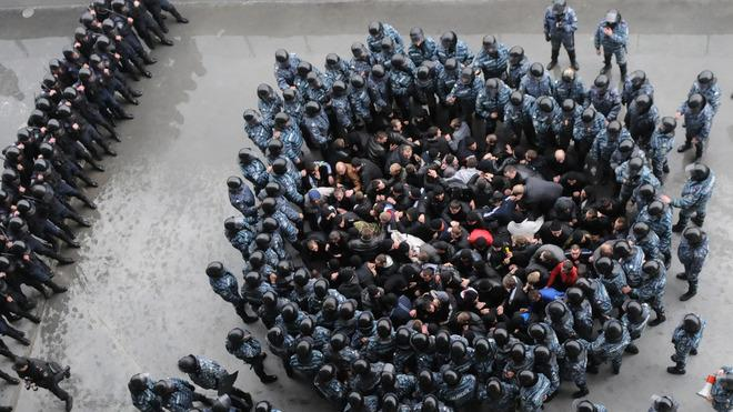 "TOPSHOTS Riot Policemen Block ""football Hooligans"" AFP/Getty Images"