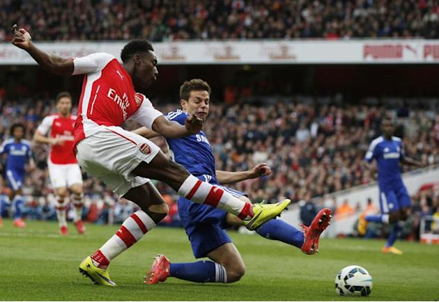 Danny Welbeck (foreground) will miss Saturday's FA Cup final against Aston Villa due to a knee injury