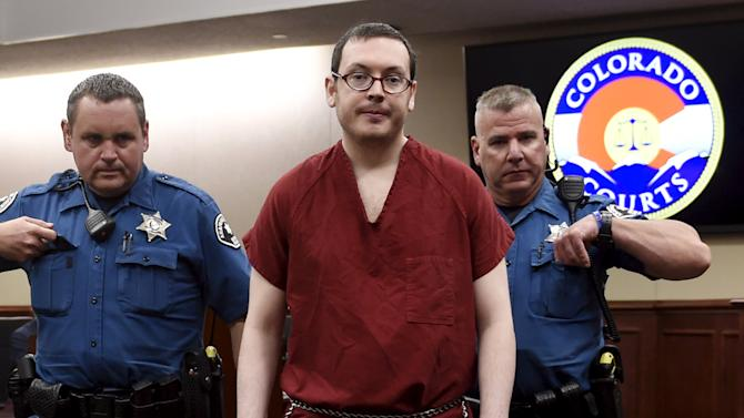Colorado movie massacre gunman James Holmes leaves court for the last time before beginning his life sentence with no chance of parole after a hearing in Centennial, Colorado