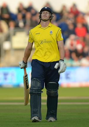 Jimmy Adams top-scored for Hampshire as they won the Friends Life t20