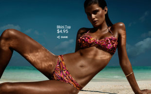 Isabeli Fontana in H&M's swimsuit collection (Photo: H&M)