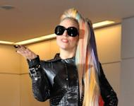 US pop star Lady Gaga arrives at Japan's Narita international airport on May 8. Indonesian police said they would not issue a permit for a Lady Gaga concert scheduled for June 3 in Jakarta