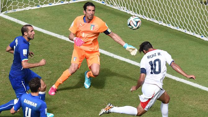 World Cup - Costa Rica stun Italy to confirm England's exit