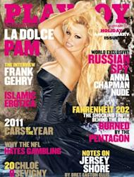 Pam Anderson on the cover of Playboy's January 2011 issue -- Playboy