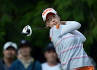 Chella Choi of South Korea hits a tee shot on the fifth hole during round two of the Canadian Women's Open at The Vancouver Golf Club on August 24, in Coquitlam, Canada. Choi was on eight-under 136 after the second round to share the lead with New Zealand golf prodigy Lydia Ko