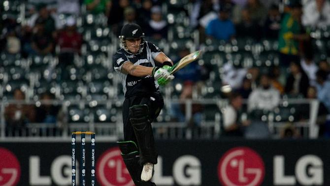 Brendon McCullum scored a record-breaking 123 for New Zealand