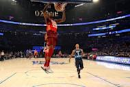 Kevin Durant of the Oklahoma City Thunder, seen here slamming a dunk against Chicago Bulls, was again instrumental as his side erased a double-digit fourth-quarter deficit en route to a 105-102 victory over Orlando