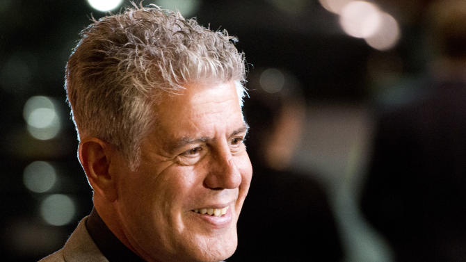 """Anthony Bourdain attends """"On The Chopping Block: A Roast of Anthony Bourdain"""" on Thursday, Oct. 11, 2012 in New York. (Photo by Charles Sykes/Invision/AP Images)"""