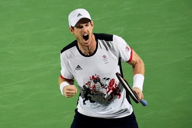 Second seed and Olympic champion Andy Murray, pictured on August 14, 2016, starts against Lukas Rosol of the Czech Republic
