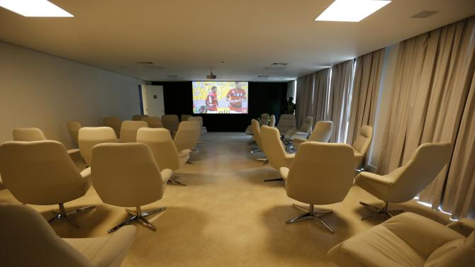 A view of the meeting room at the Granja Comary training center in Teresopolis