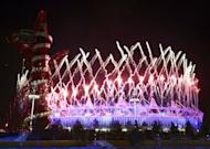 Fireworks explode over the Olympic Stadium during the London Olympics opening ceremony on July 28. The vision dreamed up by Oscar-winning director Danny Boyle featured moments of drama and comic interludes, celebrating Britain's musical and cultural heritage and the cherished National Health Service