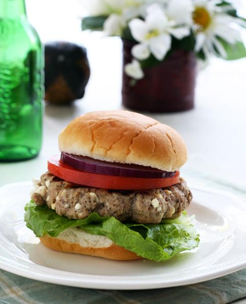 Greek Style Turkey Burgers with Feta