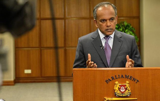 Law Minister K Shanmugam will propose a new harassment law in Parliament next Monday.(Yahoo photo)