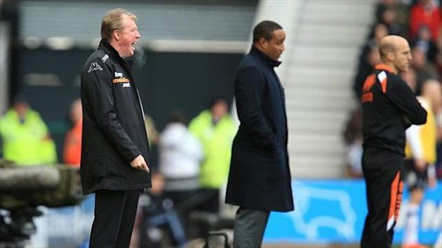 Steve McClaren, left, was delighted with Derby's performance
