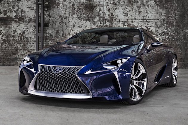 lexus lf lc super coupe front grille photo