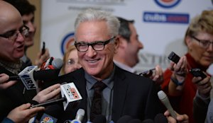 Joe Maddon was a hit at the Cubs Convention in January. (AP)