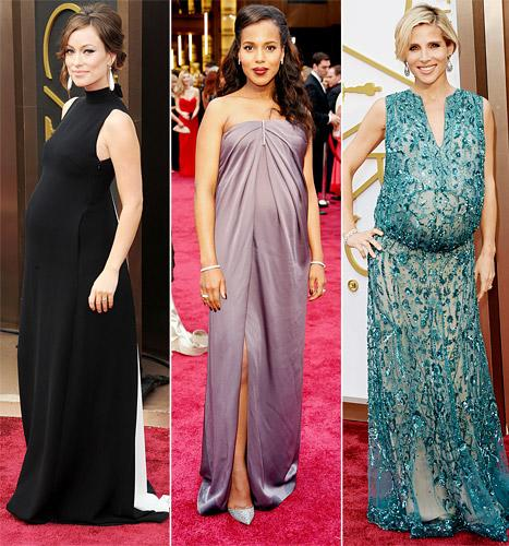 Oscars 2014: Olivia Wilde, Kerry Washington, Elsa Pataky Sport Baby Bumps on the Red Carpet