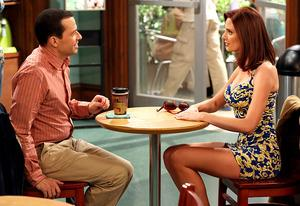 Jon Cryer and April Bowlby   Photo Credits: Robert Voets/Warner Bros. Television Entertainment